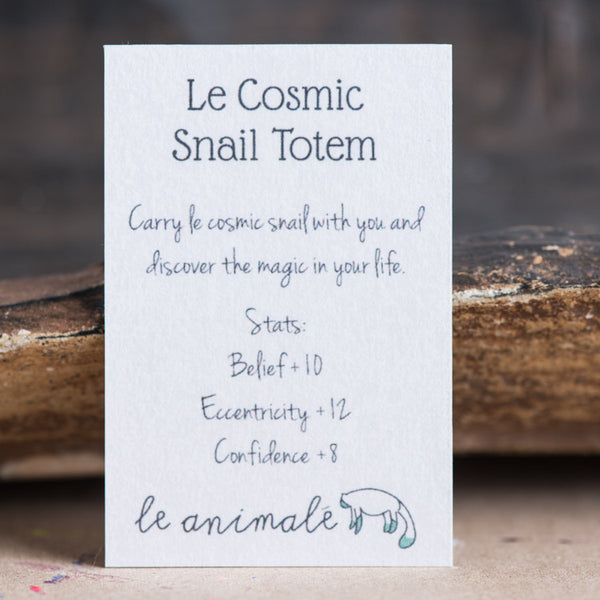 Le Cosmic Snail Totem - Muses Collection