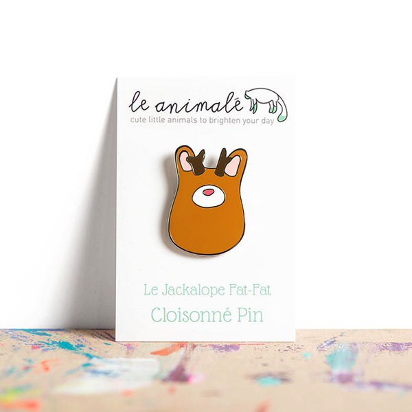 Le Jackalope Fat-Fat Pin