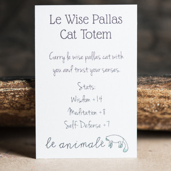 Le Wise Pallas Cat Totem