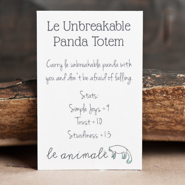 Le Unbreakable Panda Totem - Muses Collection