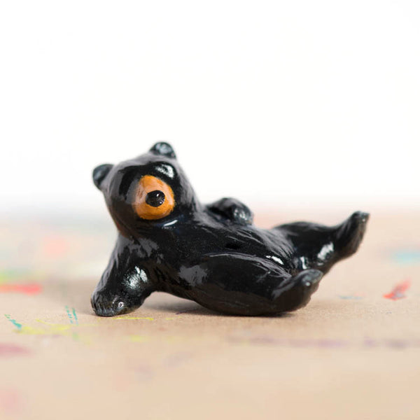 Le Tumblin' Bear Figurine - Black Bear Limited Edition