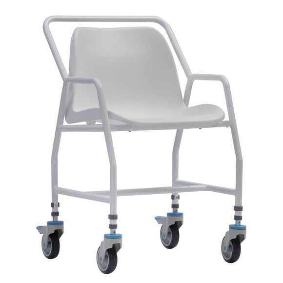 Height Adjustable Mobile Shower Chair