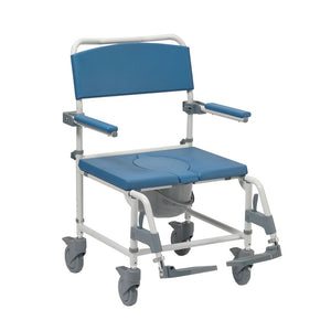Bariatric Adaptable Shower Commode Chair - Attendant Controlled