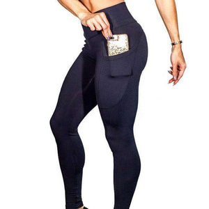 6f473dad05770 Yoga Pants With Pockets S-XL Women Sport Leggings Jogging Workout Running  Leggings Stretch High