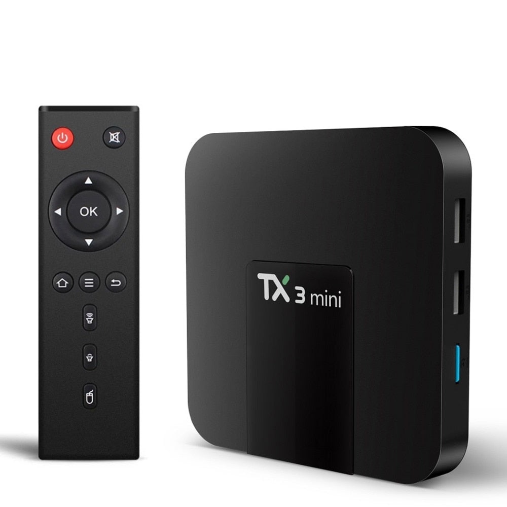 TX3 Mini Android 7.1 TV Box Smart TV H2.65 IPTV 4K Set Top Box TVBOX IPTV Media Player Amlogic S905W 1G 8G Tanix Box