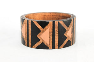 Geo Deco Handpainted Bangle