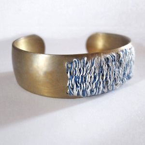 SeasideTextile Brass Cuff