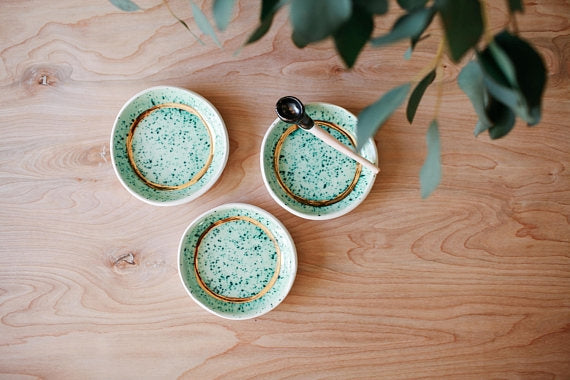 Pistachio Speckled Dish - Set of 3