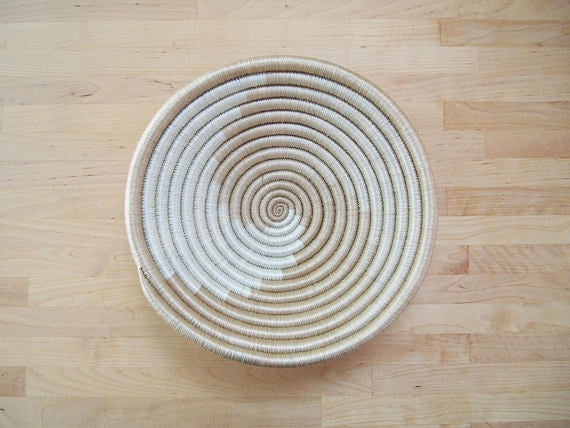 Mini Swirl Sisal Sweetgrass Basket - 8""