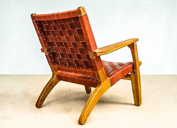 El Abuelito Burnt Sienna Leather Armchair