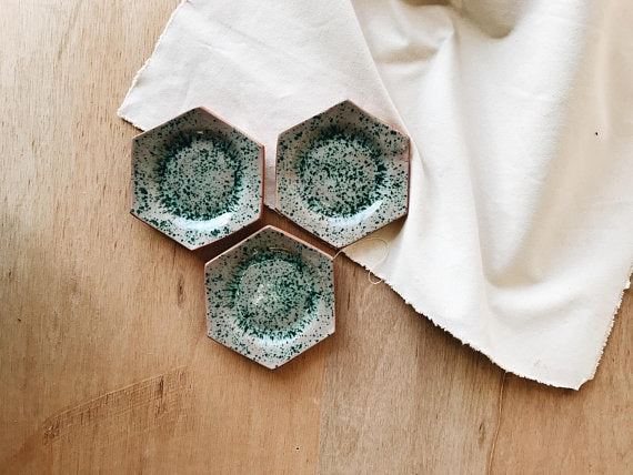 Speckled Earthenware Dish