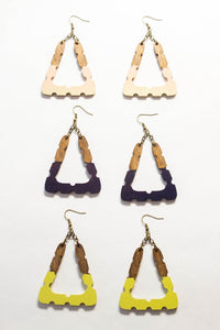 Triangle Handpainted Earrings