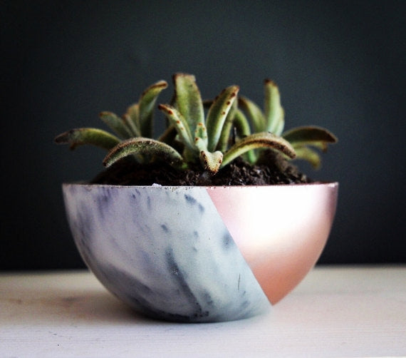 Marble Concrete Planter Bowl