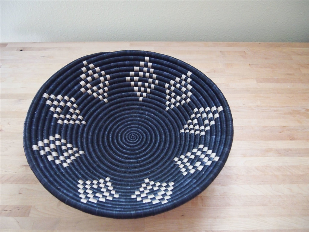 Tan Shapes  Sweetgrass Basket - 16""