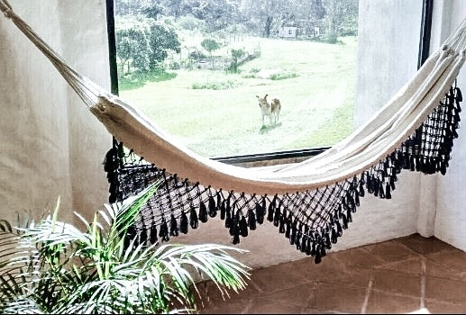 Iriana Black/White Double Hammock