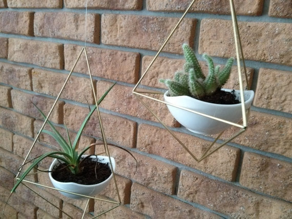 Scandinavian Hanging Metal Terrariums-Set of 2