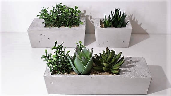 Boxed Minimalist Planters-Set of 3