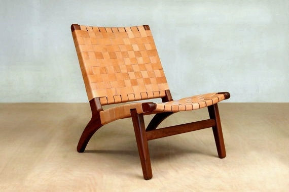 El Abuelito Camel Leather Lounger