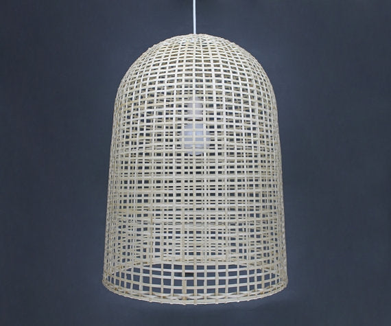 Elongated Bamboo Sheets Pendant