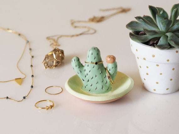 Prickly Cactus Ring Holder