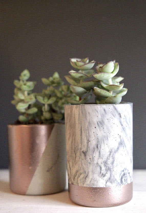Little Mama's Dynamic Duo Concrete Planters