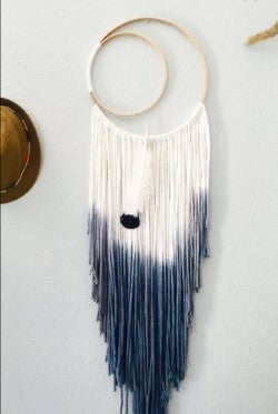 Double Hoops Indigo Dream Catcher