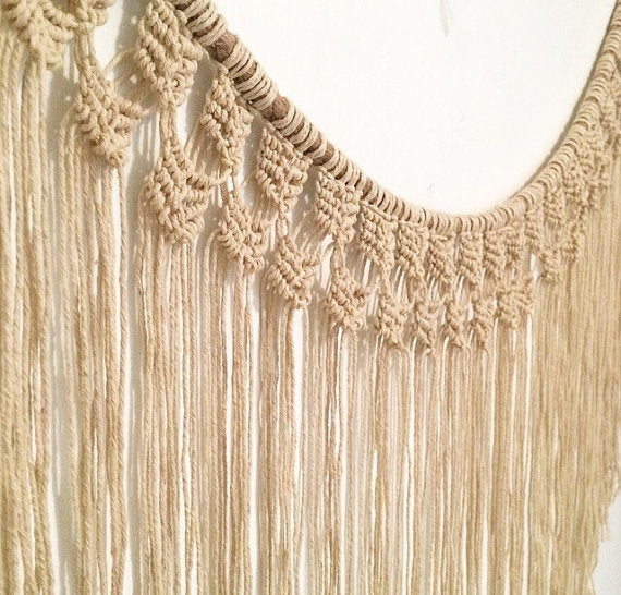 Fringed Wall Hanging+Curtain+Window Covering