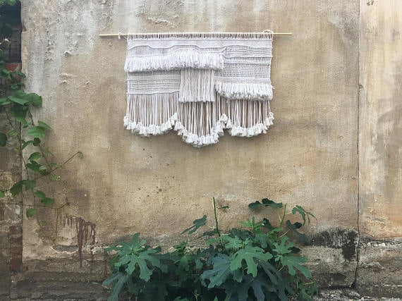 Hand + Loom Woven Fringed Tapestry