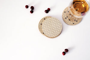 Hexagon Honeycomb Coasters Set