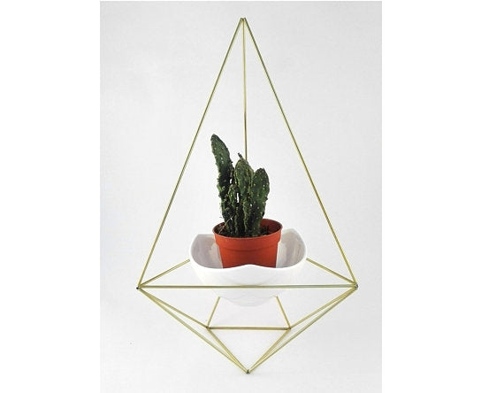 Himmeli Diamond Geo + Ceramic Pot