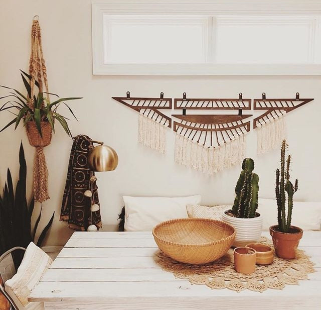 Fringed Wings Wall Hanging