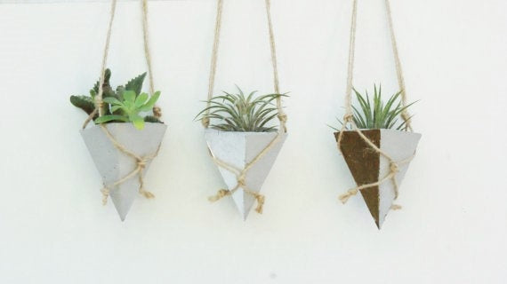 Zadar Hanging Concrete Triangle Planter