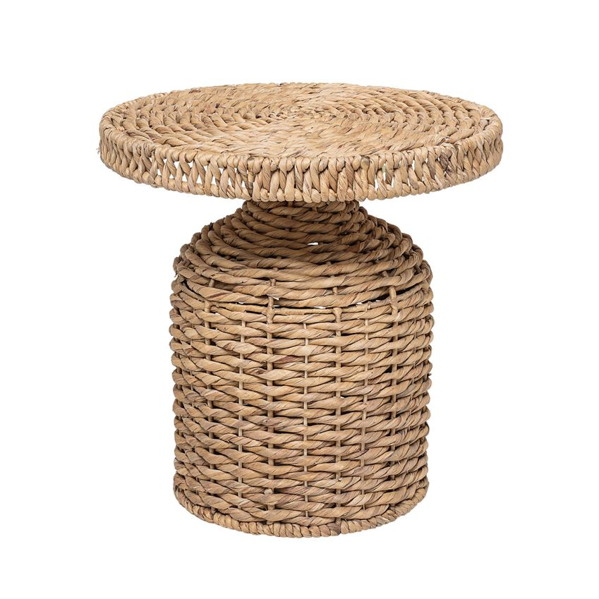 Woven Water Hyacinth Side Table