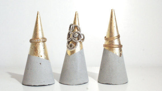 Gold Dipped Ring Cone