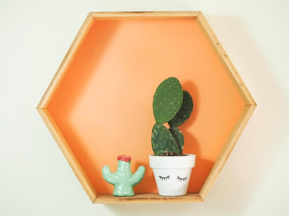 Pastel Polka Dots Cactus Ring Holder