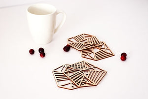 Birchwood Geo Coaster Set