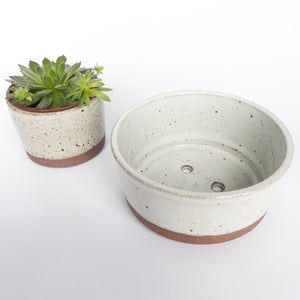 Speckled Natural Large Planter