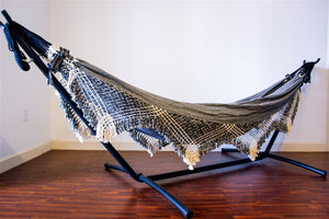 Little Raisin 2 Tone Double Hammock + Fringe