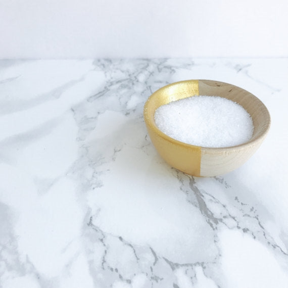 Beech Wood + Gold Salt Cellar Pinch Bowl