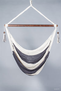 Double Color Tassels Hammock Swing With Bar