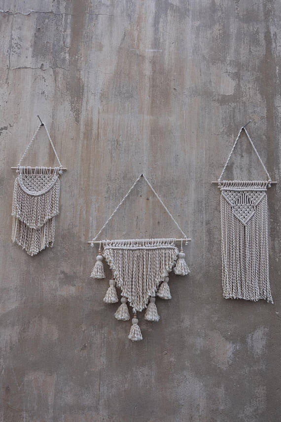 Woven Beauty Trio Wall Hangings