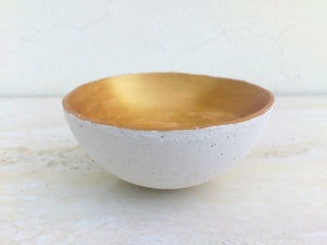 Concrete Painted Bowl