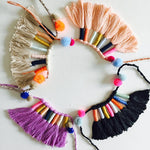 Fiber Art Tassel Necklace