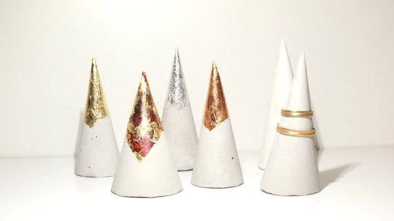 Metallic Ring Cones-Set of 6