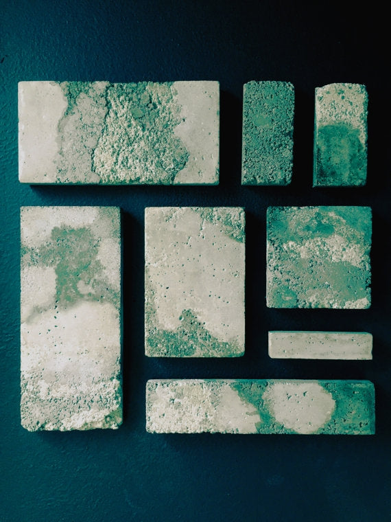 Concrete Patina Colors Wall Hanging