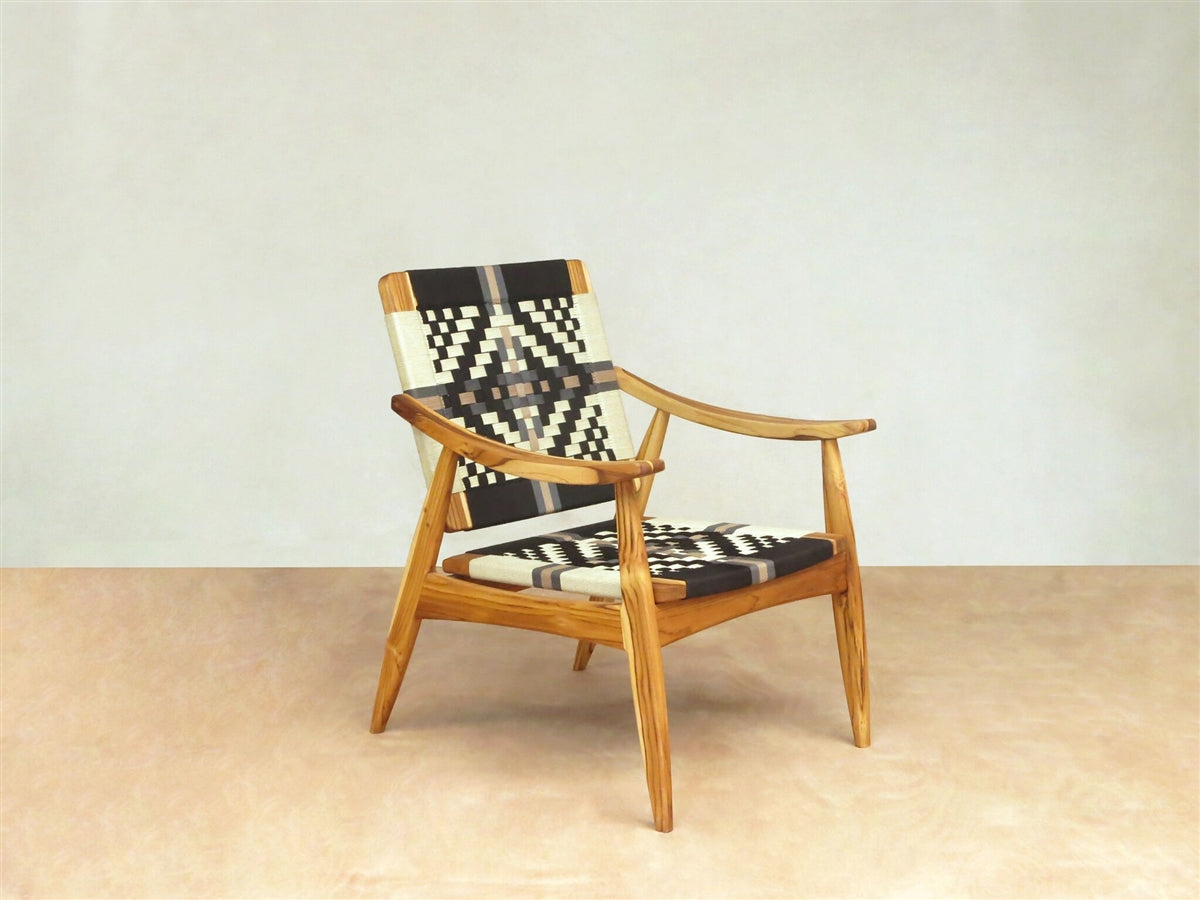 Talico Manila Black & White Lounger