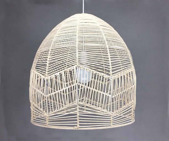 White Natural Bell Shape Basket Pendant