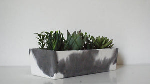 Minimalist Rectangle Double Planter