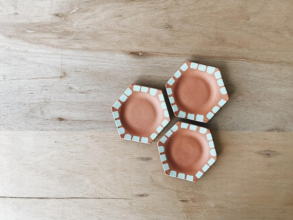 Honeycomb Terracotta Trio