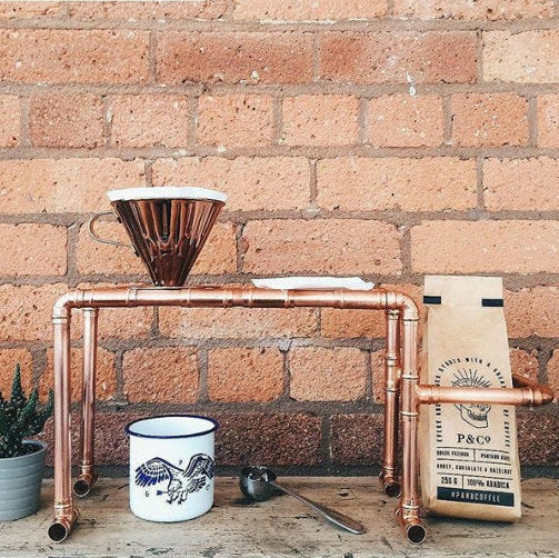 Golden Goddess Copper Drip Coffee Stand